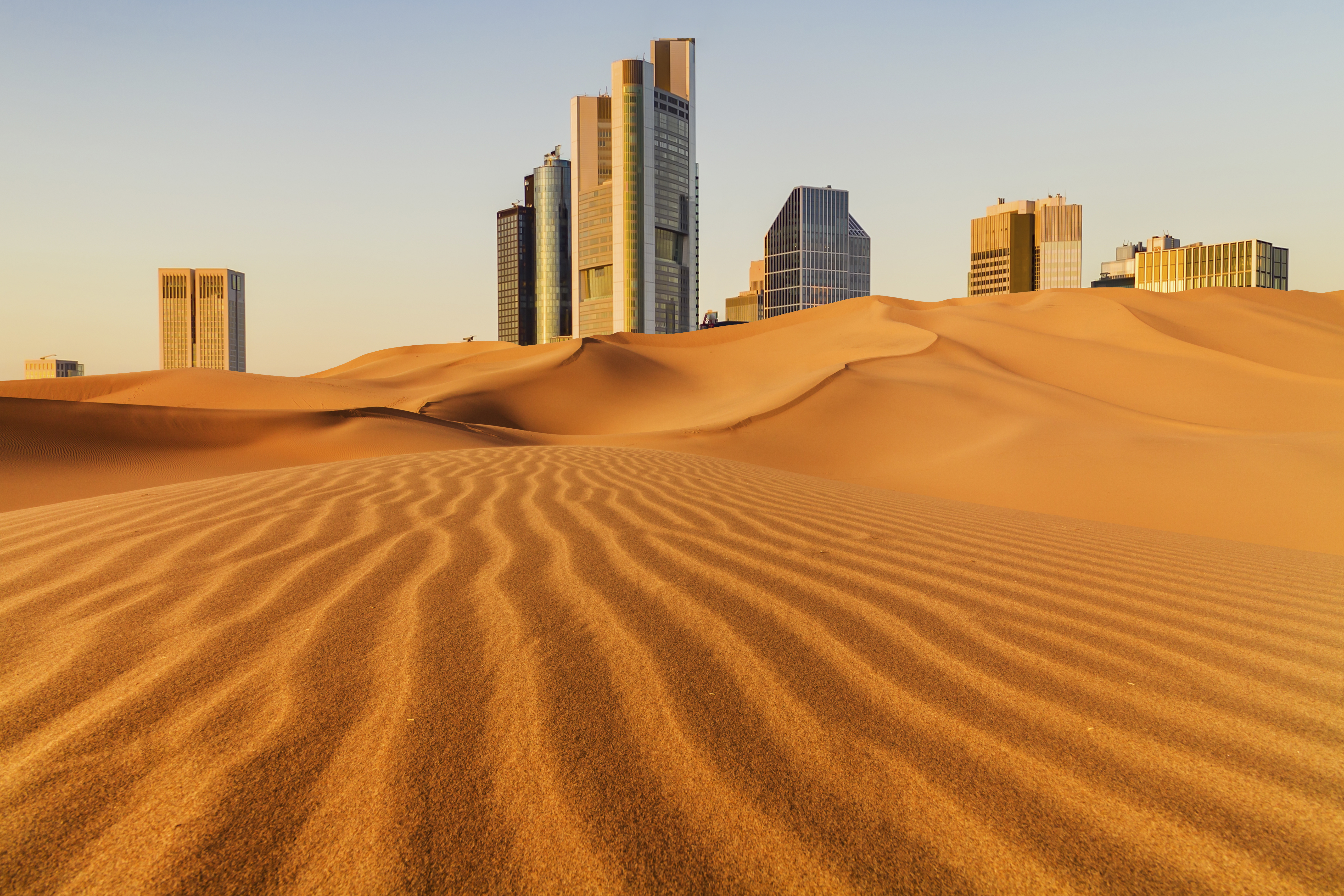 Image of a City within a desert