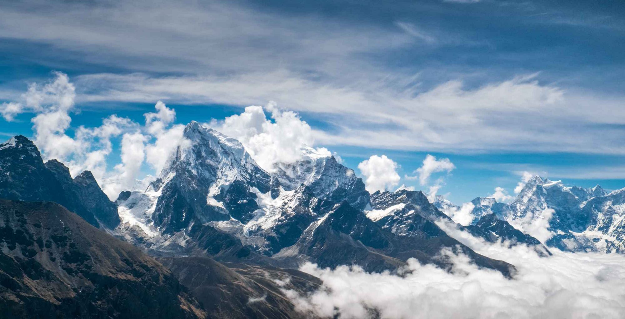 An image of snow-capped mountains